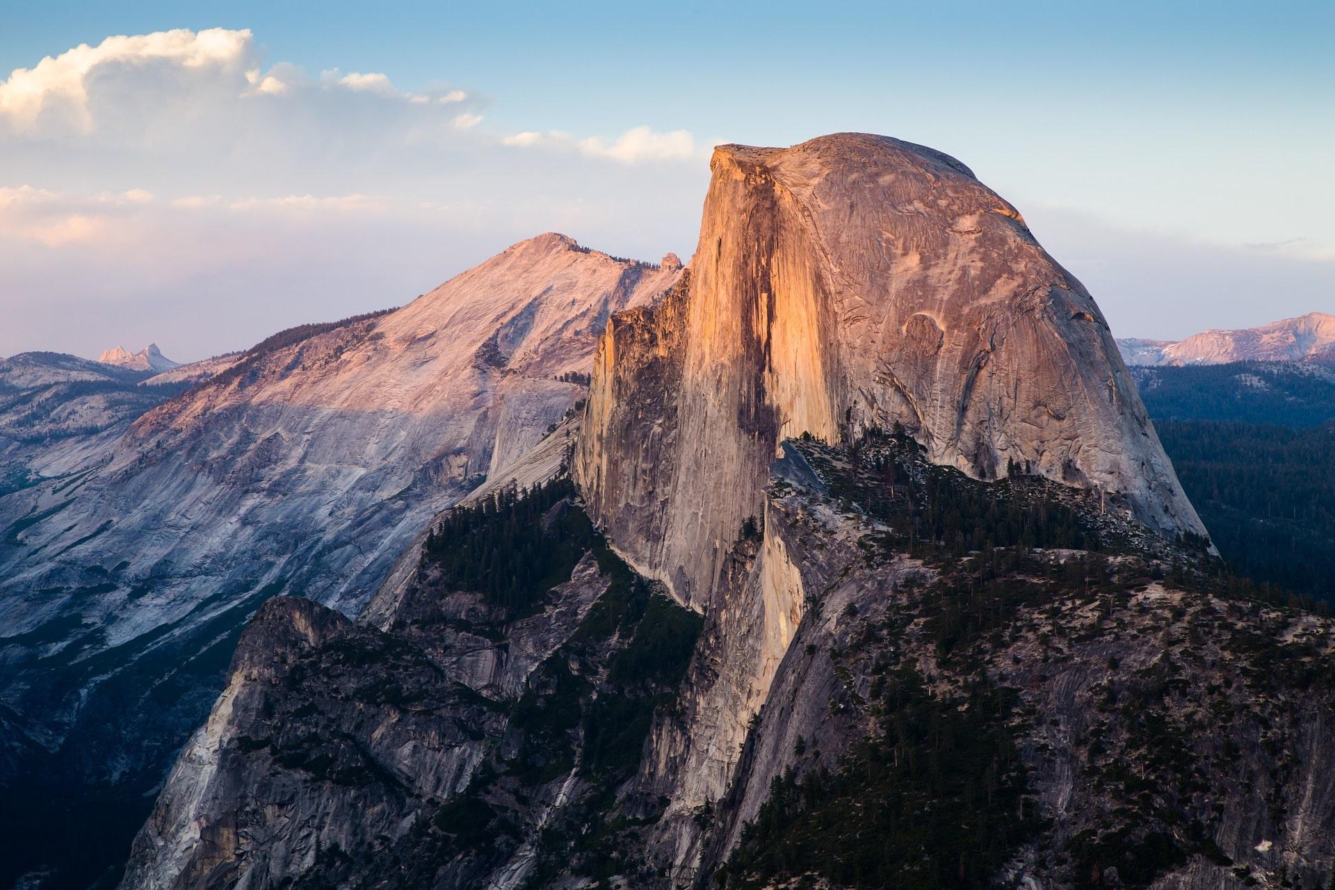vue sur le Half-Dome au parc national de Yosemite