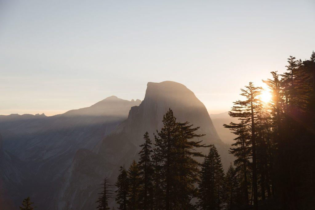 vue sur le half-dome à Yosemite