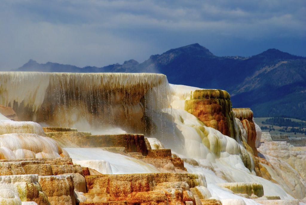concrétions calcaires à Yellowstone